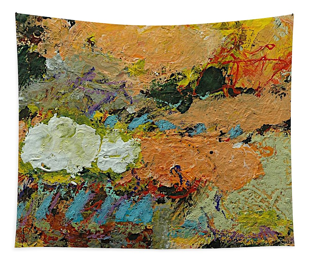 Landscape Tapestry featuring the painting Sweet And Spicy by Allan P Friedlander