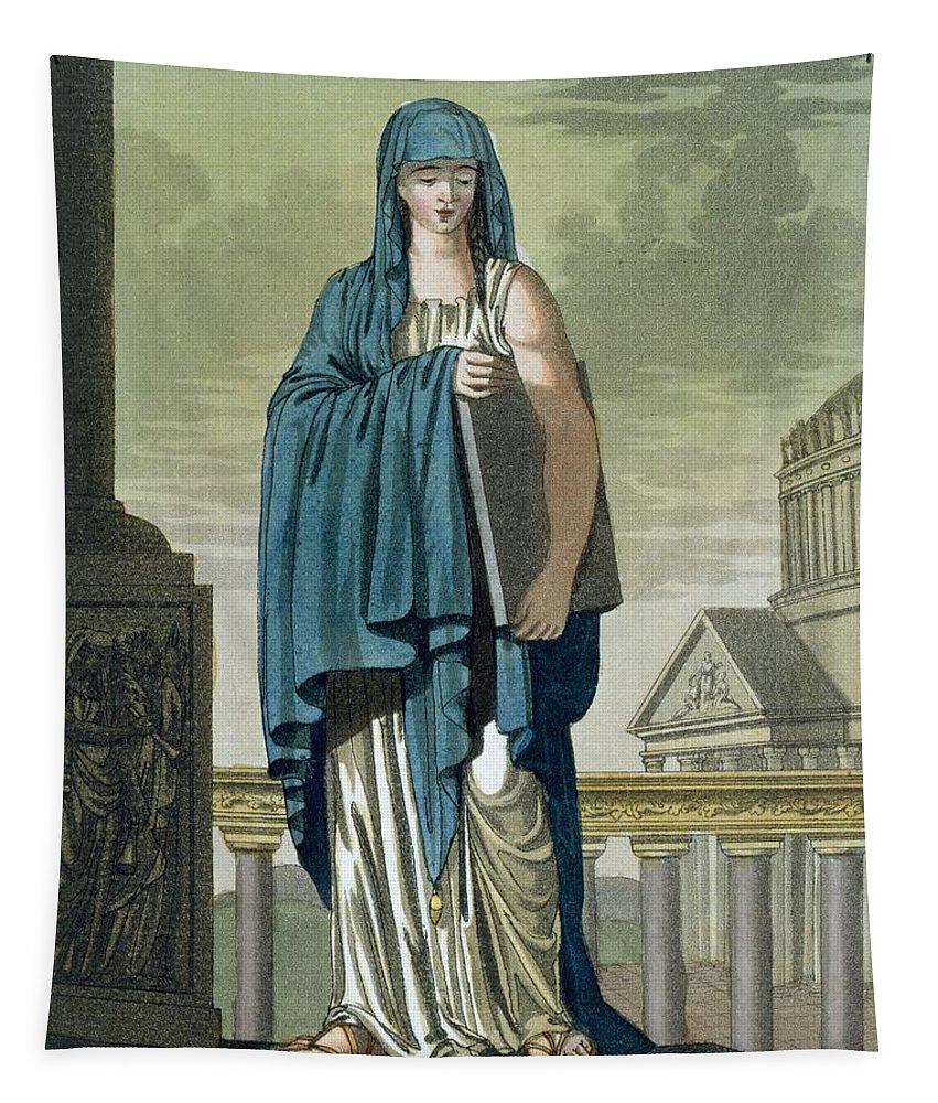Ancient Rome Tapestry featuring the painting Sybil, Illustration From Lantique Rome by Jacques Grasset de Saint-Sauveur