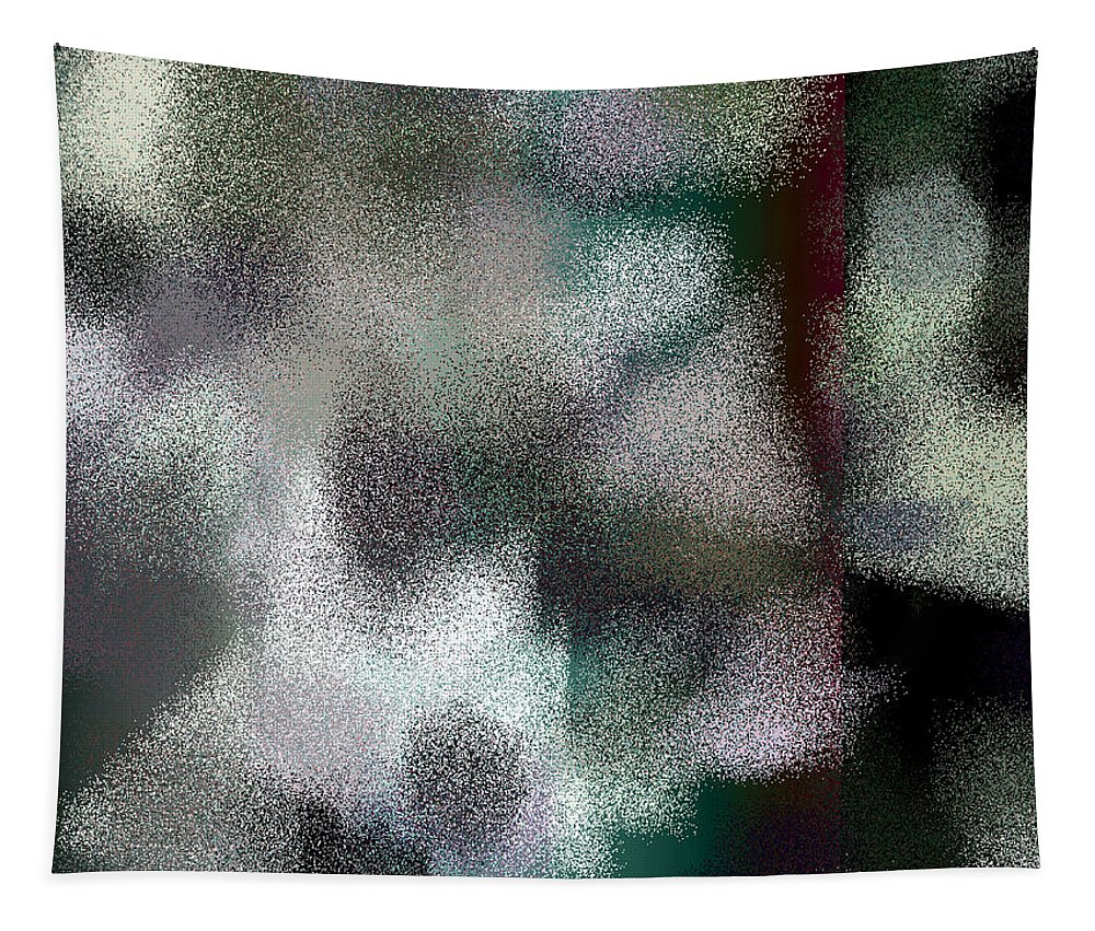 Abstract Tapestry featuring the digital art T.1.57.4.4x3.5120x3840 by Gareth Lewis