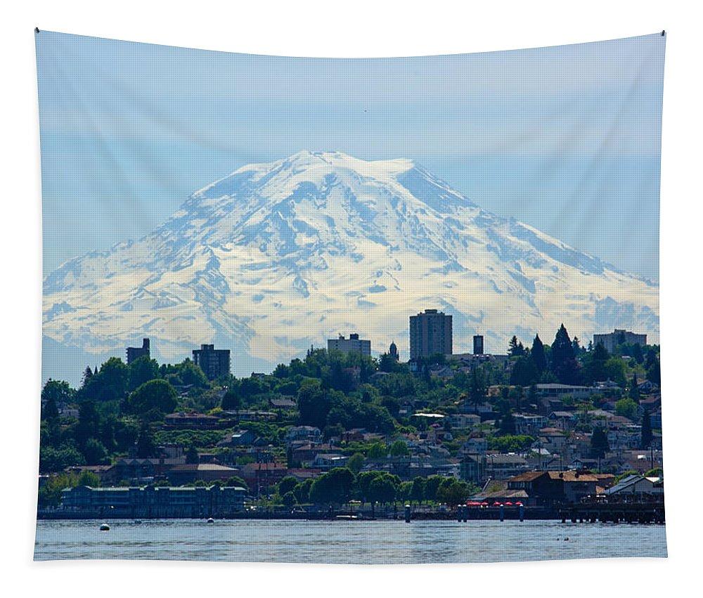 Tacoma Rainier Tapestry featuring the photograph Tacoma Rainier by Tikvah's Hope