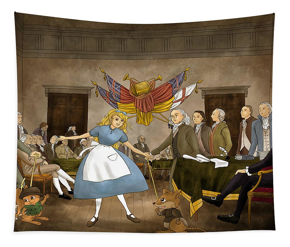 Independence Hall Tapestry featuring the painting Tammy In Independence Hall by Reynold Jay