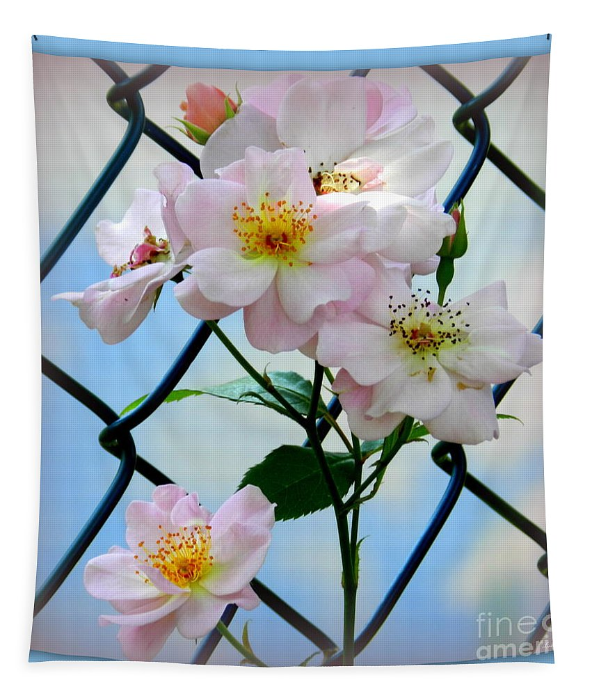 Flower Tapestry featuring the photograph Tangled by Linda Galok