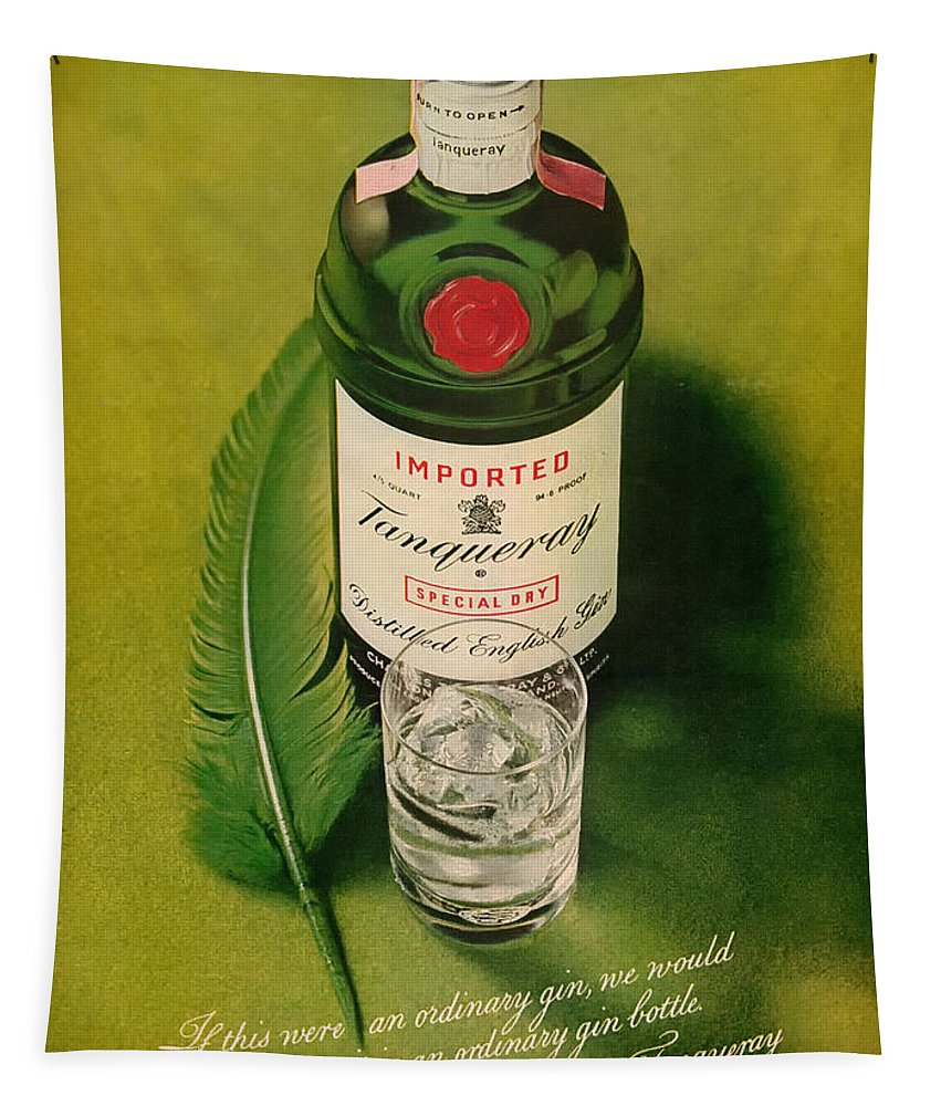 Tanqueray Tapestry featuring the digital art Tanqueray Gin by Georgia Fowler