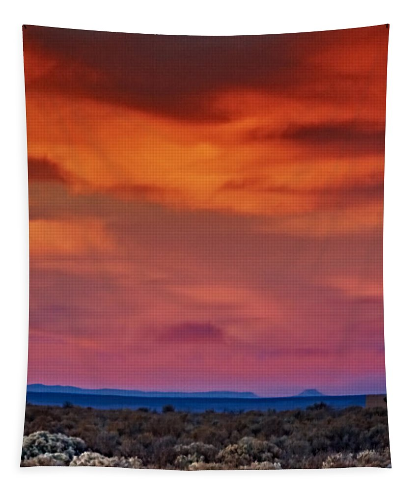 Taos Tapestry featuring the photograph Taos Sunrise V by Charles Muhle