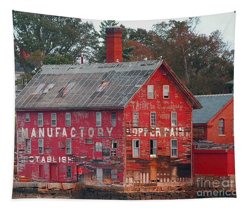 Tarr Tapestry featuring the photograph Tarr And Wonson Paint Manufactory by Tom Gari Gallery-Three-Photography