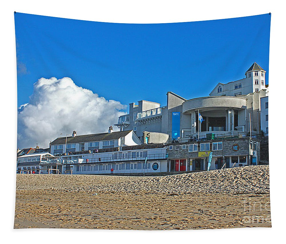 Tate St Ives Tapestry featuring the photograph Tate Gallery St Ives Cornwall by Terri Waters