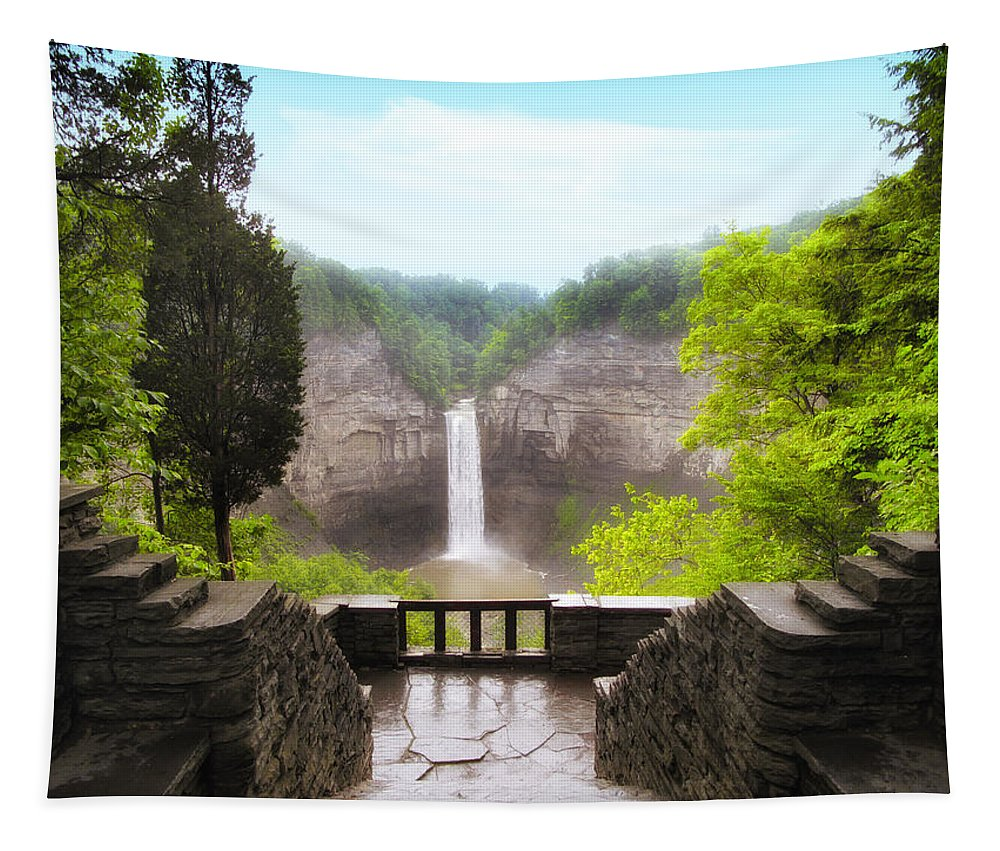 Waterfall Tapestry featuring the photograph Taughannock Falls by Jessica Jenney