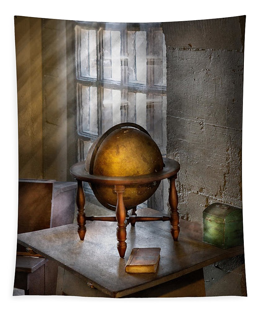 Teacher Tapestry featuring the photograph Teacher - Around The World by Mike Savad