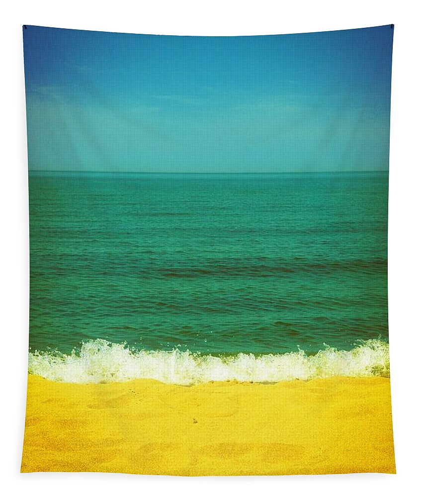 Lake Michigan Tapestry featuring the photograph Teal Waters by Michelle Calkins