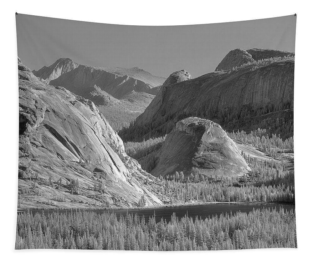Tenaya Lake Tapestry featuring the photograph 6m6552-bw-tenaya Lake Yosemite Bw by Ed Cooper Photography