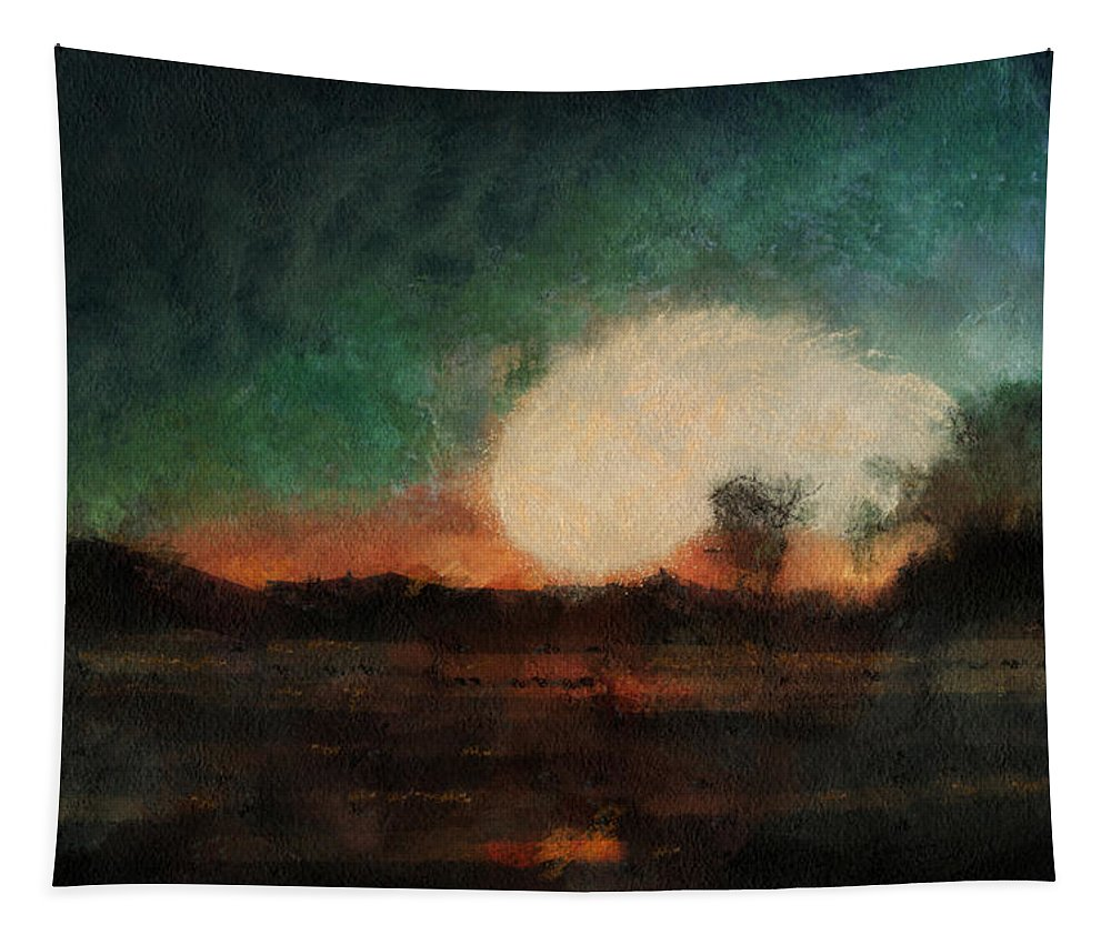 Sunrise Tapestry featuring the photograph Tequila Sunrise Photo Art 03 by Thomas Woolworth