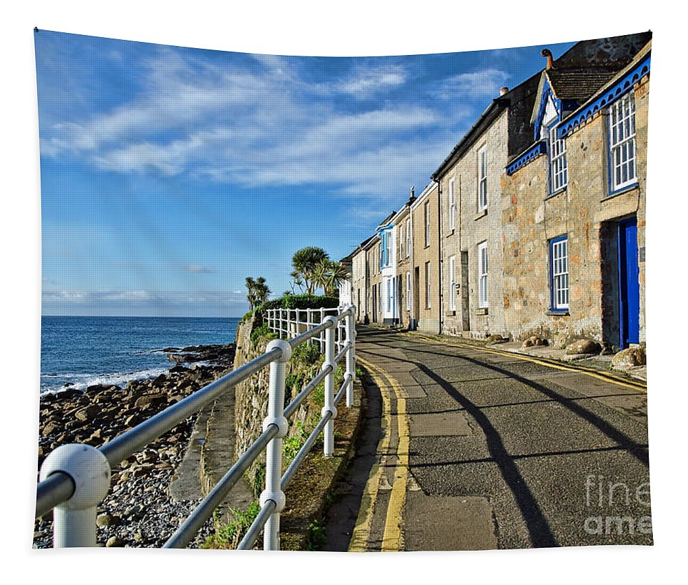 Mousehole Tapestry featuring the photograph Terraced Cottages At Mousehole by Susie Peek