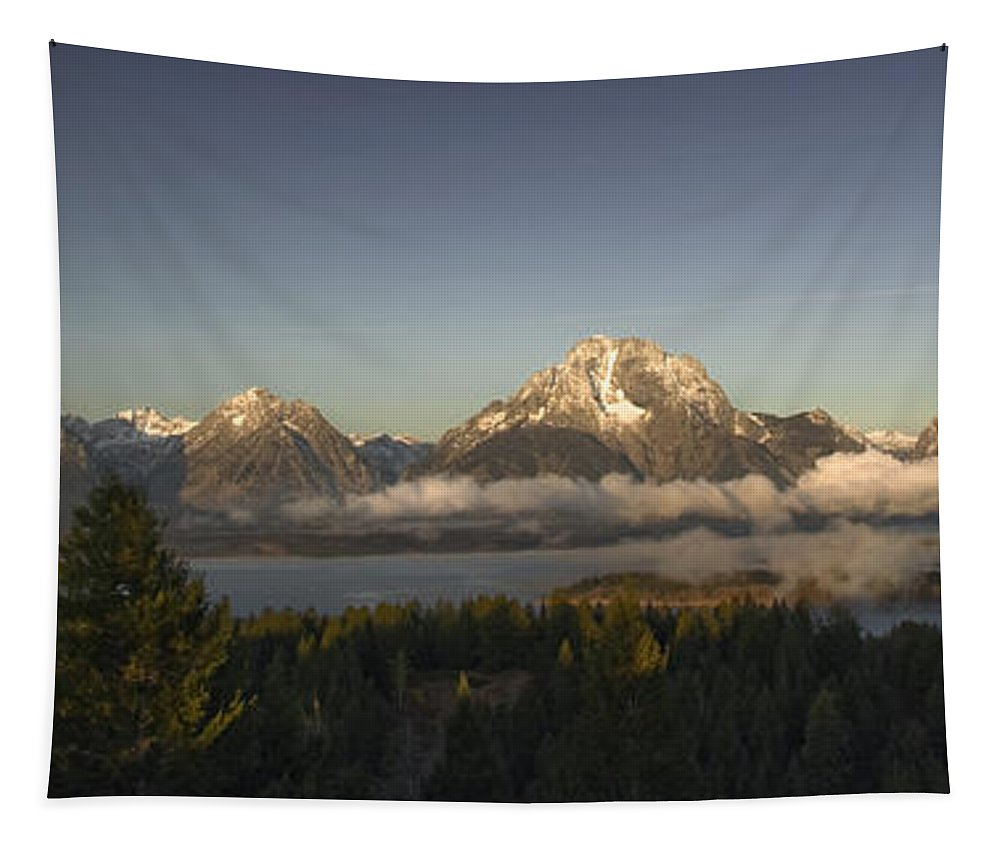 Landscapes Tapestry featuring the photograph Teton Sunrise by Wildlife Fine Art