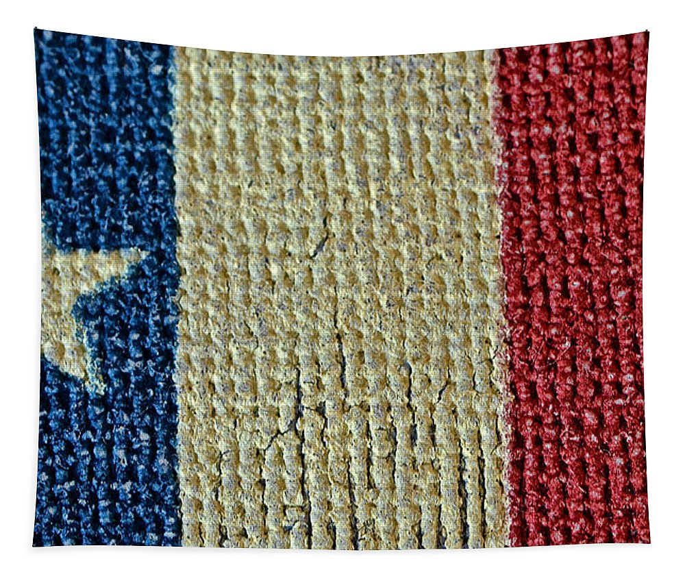 Texas Tapestry featuring the photograph Texas First Lone Star Dodson's Flag by Bill Owen