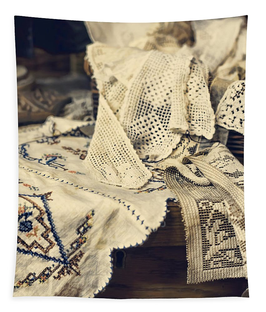 Lace Tapestry featuring the photograph Textile Collection by Heather Applegate