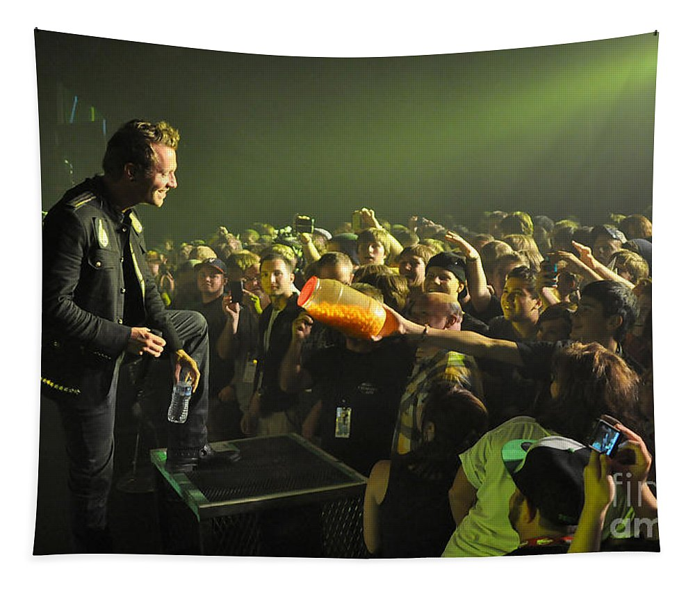 Tfk Tapestry featuring the photograph Tfk-trevor-cheeseballs-2883 by Gary Gingrich Galleries