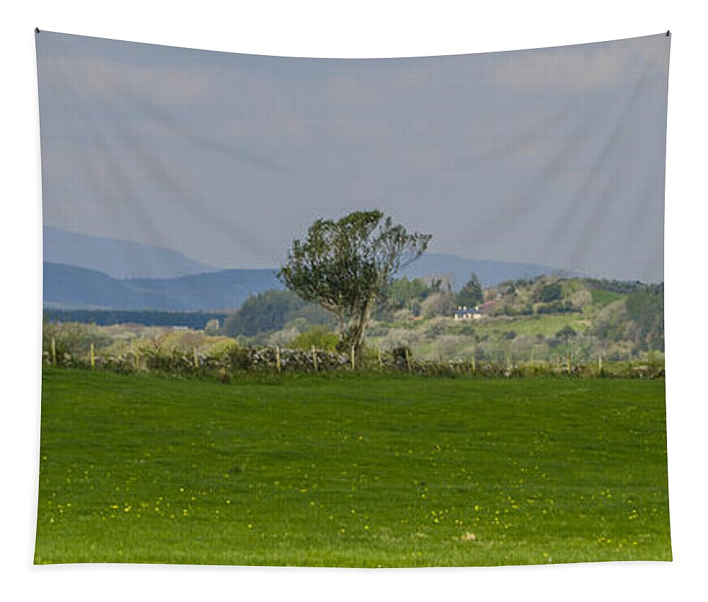Thatched Tapestry featuring the photograph Thatched Roof - County Mayo Ireland by Bill Cannon