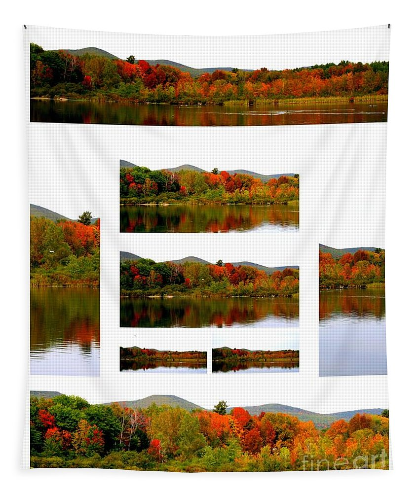 Art Tapestry featuring the photograph The Berkshires Collage by Linda Galok
