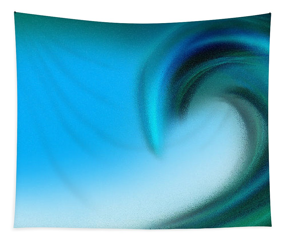 Ocean Tapestry featuring the digital art The Big Wave Of Hawaii 2 by Andee Design