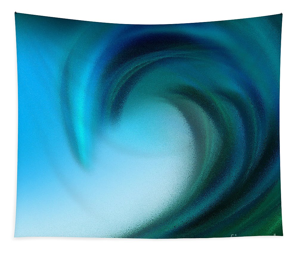 Ocean Tapestry featuring the digital art The Big Wave Of Hawaii 5 by Andee Design