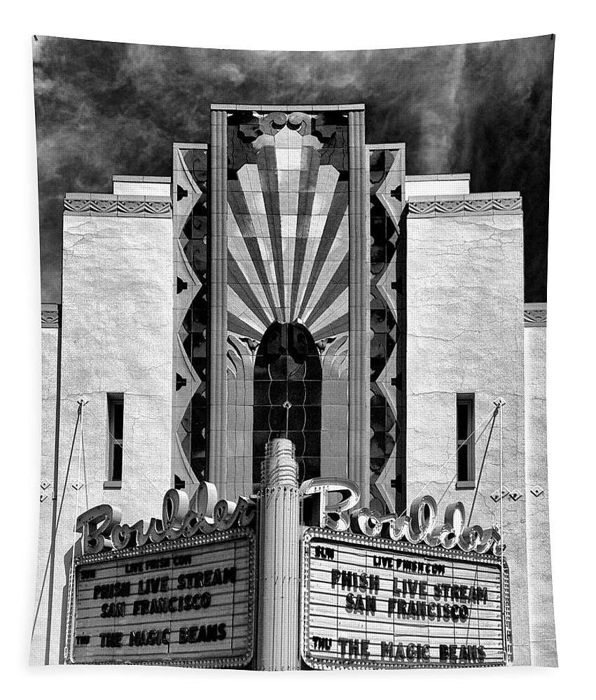 Boulder Tapestry featuring the photograph The Boulder Theatre by Dominic Piperata