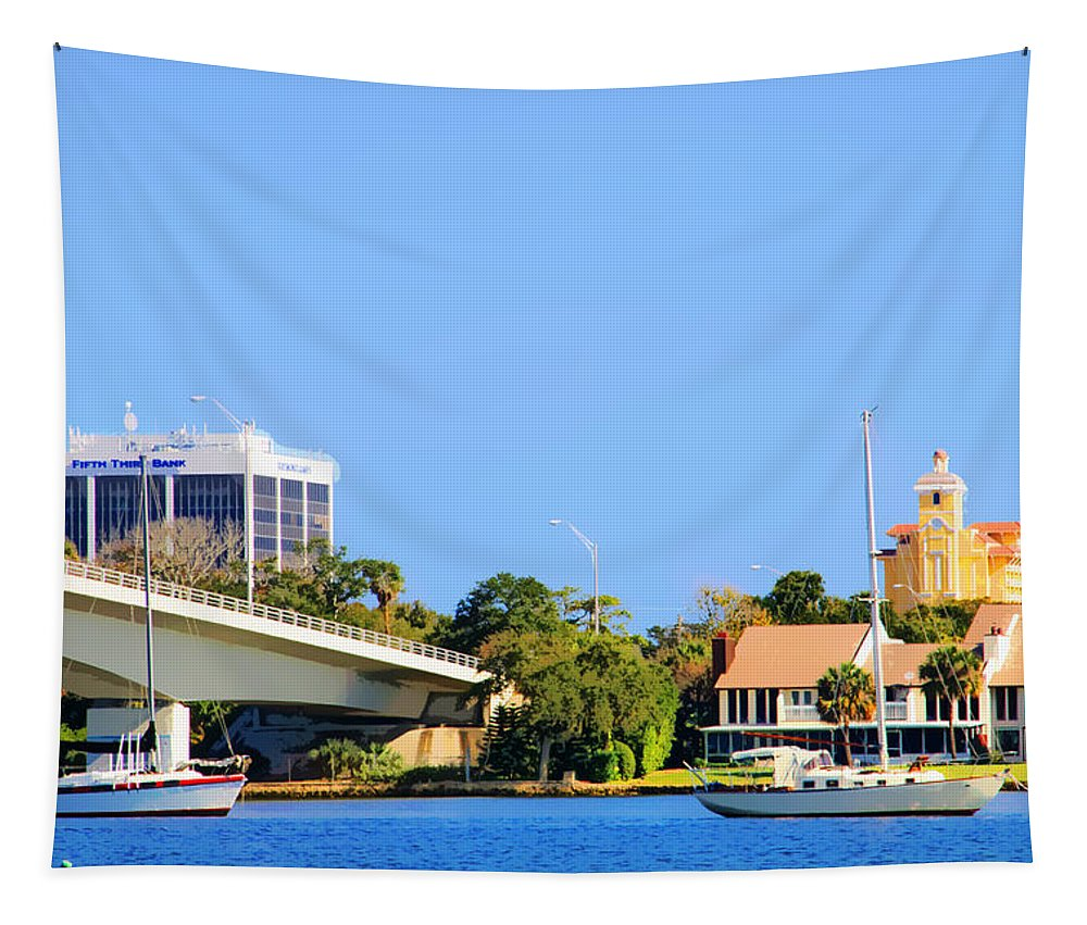 Bridge Tapestry featuring the photograph The Bridge by Alice Gipson