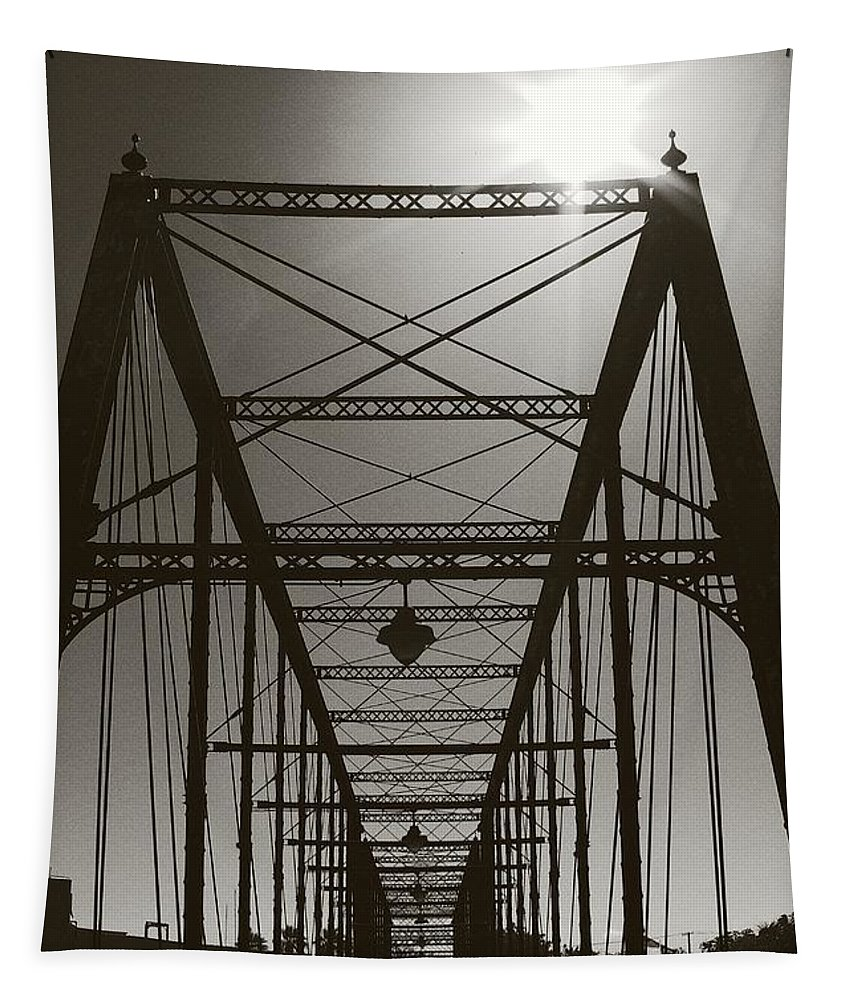 Bridge Tapestry featuring the photograph The Bridge by Gary Richards