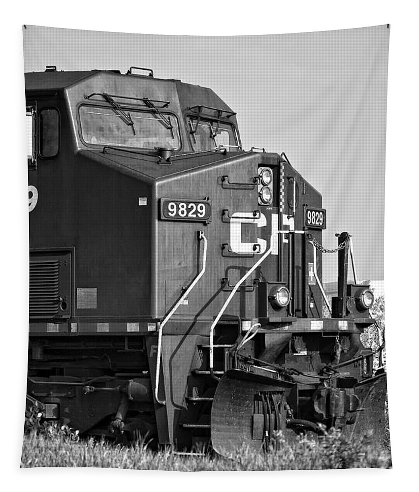 Engine Tapestry featuring the photograph The Brute Monochrome by Steve Harrington