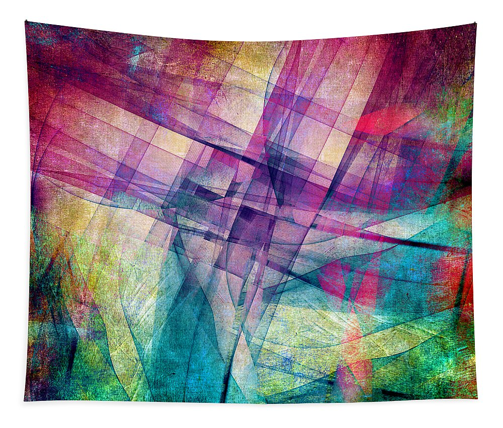 Buildings Block Tapestry featuring the digital art The Building Blocks by Angelina Tamez