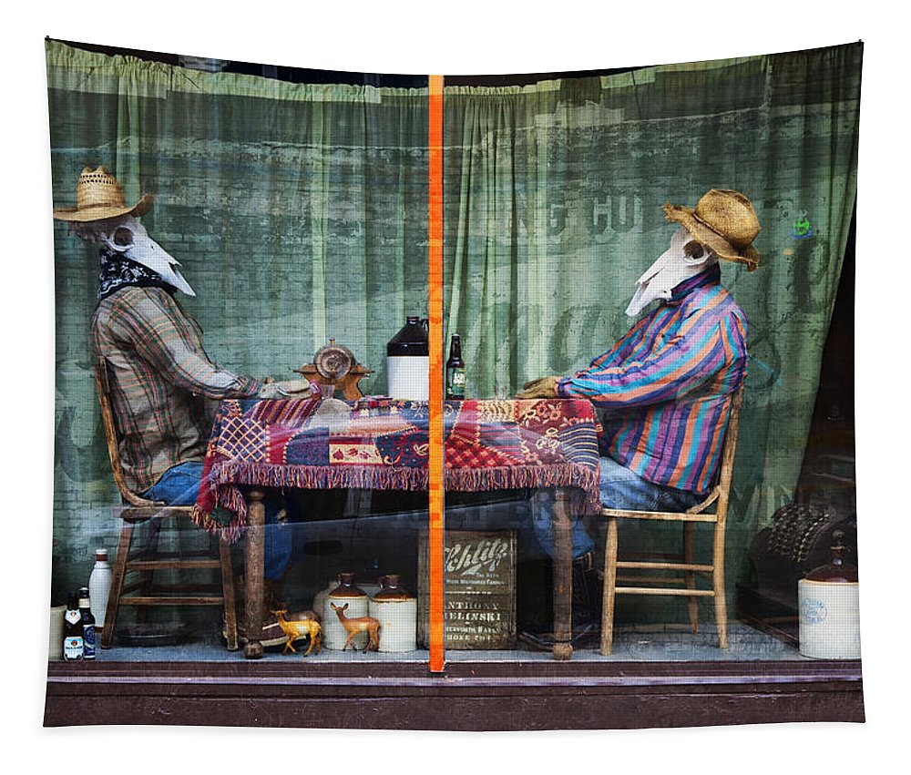 Victor Colorado Tapestry featuring the photograph The Card Players Victor Colorado Img 8665 by Greg Kluempers
