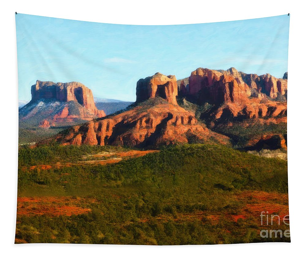 Sedona Tapestry featuring the photograph The Cathedral Complex by Jon Burch Photography