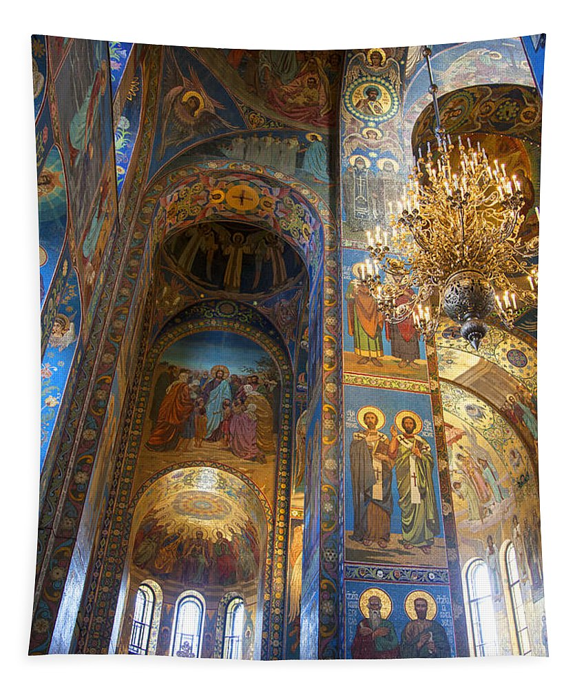 Cathedral Tapestry featuring the photograph The Church Of Our Savior On Spilled Blood - St. Petersburg - Russia by Madeline Ellis