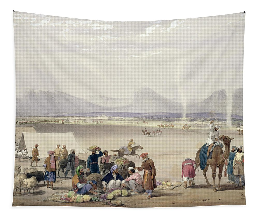 Kandahar Tapestry featuring the drawing The City Of Candahar, From Sketches by James Atkinson