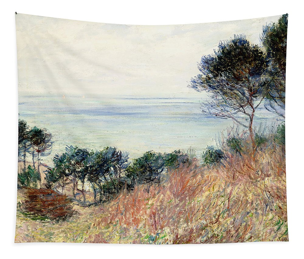 Monet Tapestry featuring the painting The Coast Of Varengeville by Claude Monet