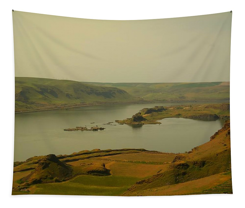Maryhill Tapestry featuring the photograph The Columbia River From Maryhill by Jeff Swan