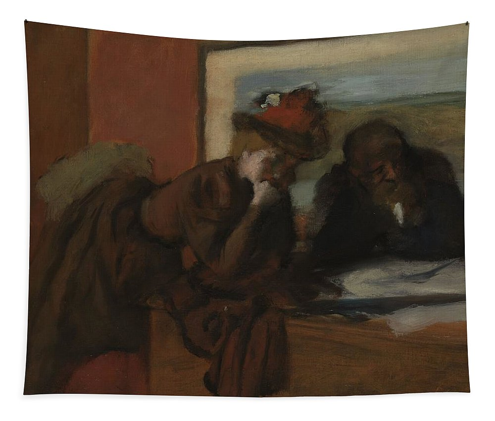 Conversation Tapestry featuring the painting The Conversation, 1885-95 by Edgar Degas