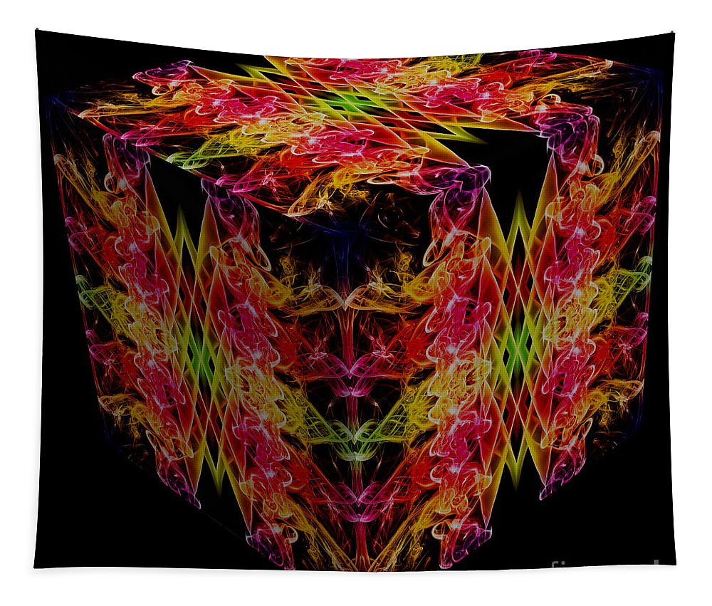 Smoking Trails Tapestry featuring the photograph The Cube 1 by Steve Purnell
