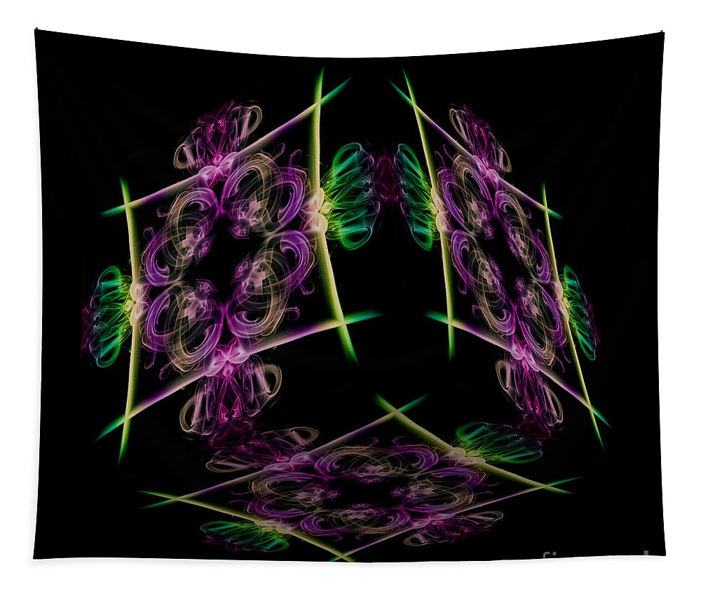 Smoking Trails Tapestry featuring the photograph The Cube 7 by Steve Purnell