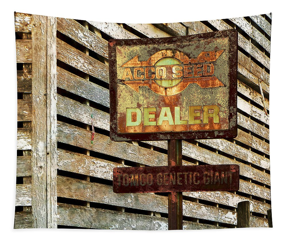 Signs Tapestry featuring the photograph The Dealer by John Anderson