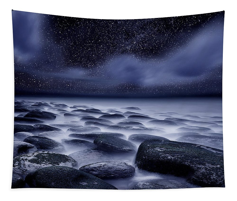 Night Tapestry featuring the photograph The Edge of Forever by Jorge Maia