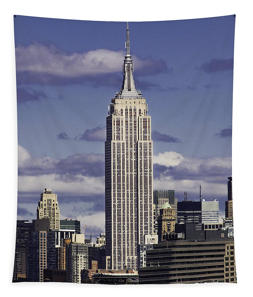 Empire State Building Tapestry featuring the photograph The Empire State Building by Jatinkumar Thakkar