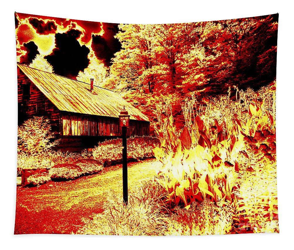 Special Effects Tapestry featuring the photograph When The World Burns by Paul W Faust - Impressions of Light