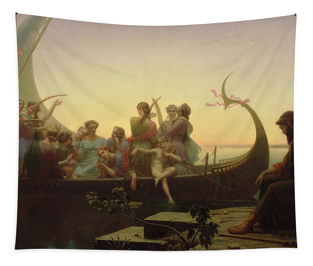 The Evening Tapestry featuring the painting The Evening by Charles Gleyre