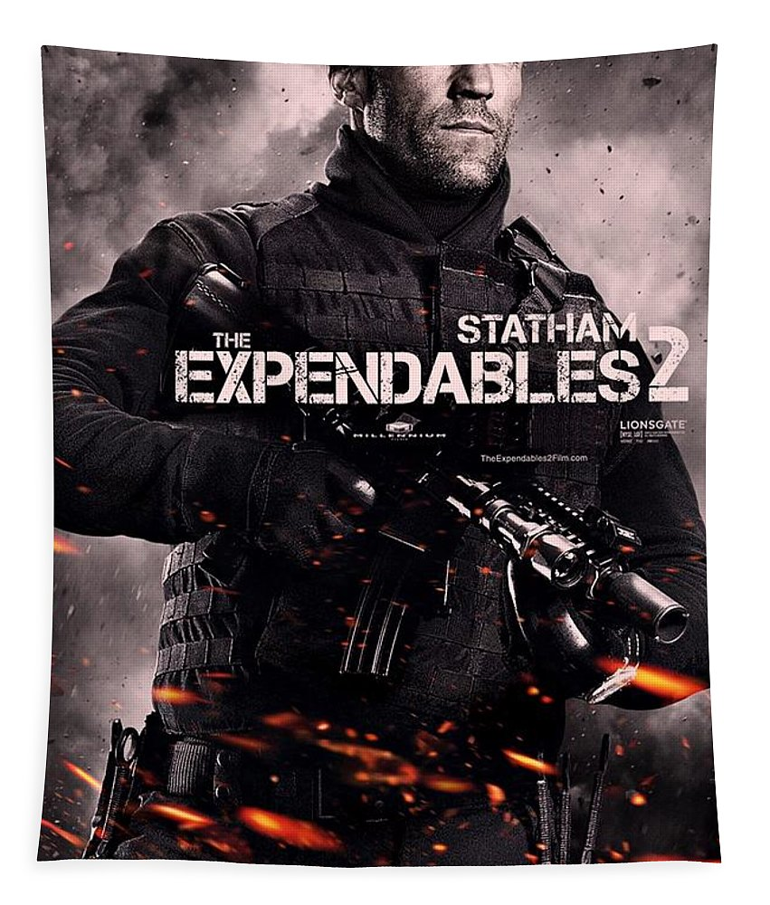 The Expendables 2 Tapestry featuring the photograph The Expendables 2 Statham by Movie Poster Prints