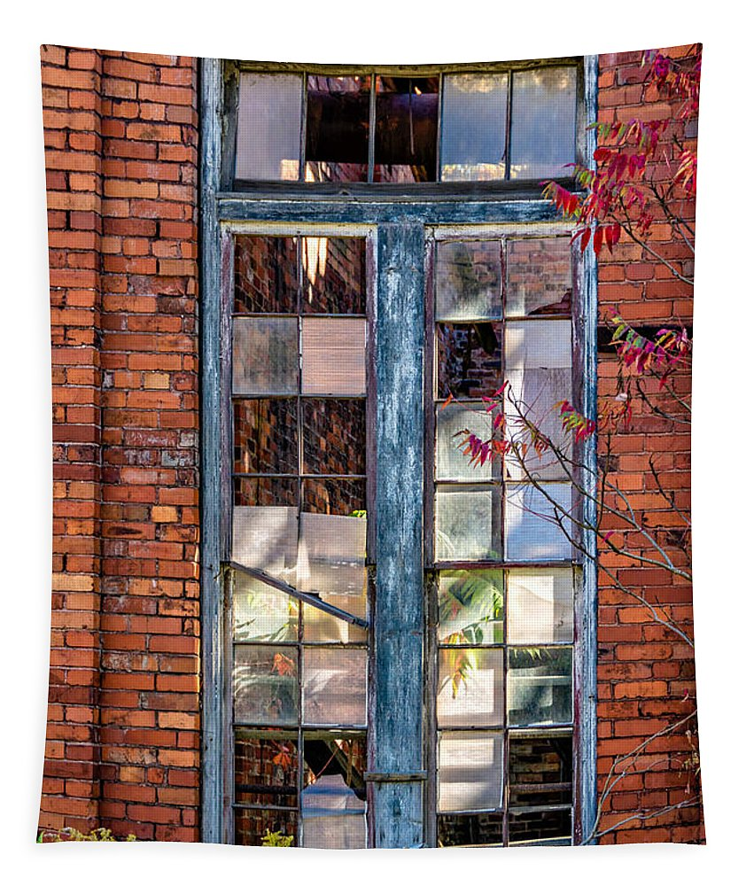 Autumn Tapestry featuring the photograph The Factory Window by Steve Harrington