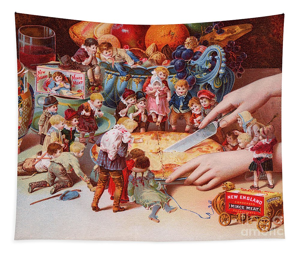 Pie Tapestry featuring the painting The Fairys Pie by American School