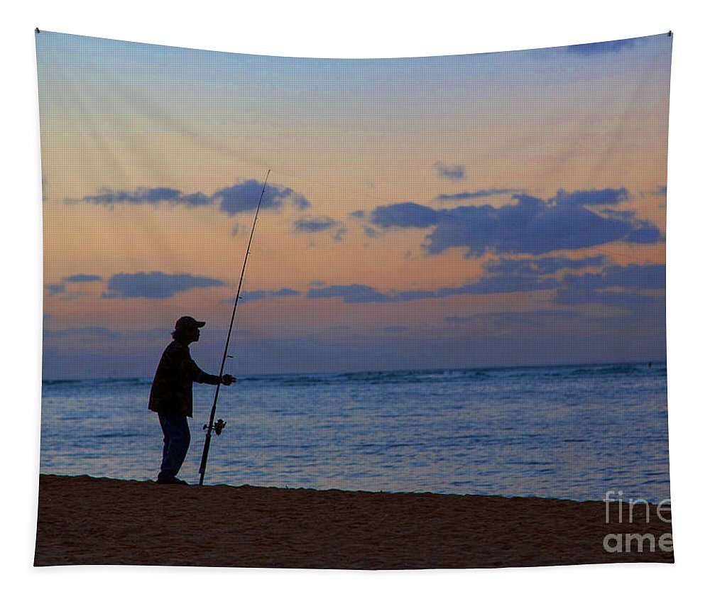 Fisherman Tapestry featuring the photograph The Fisherman by Jon Burch Photography