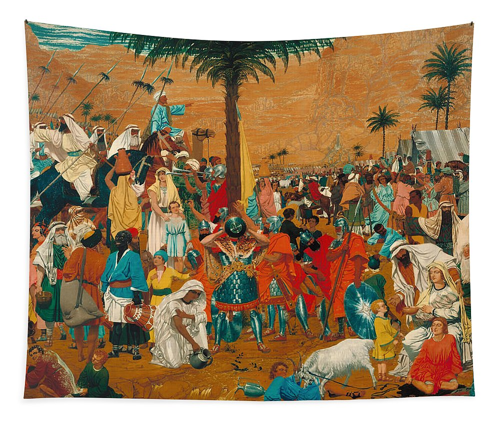 Painting Tapestry featuring the painting The Flight Out Of Egypt by Mountain Dreams