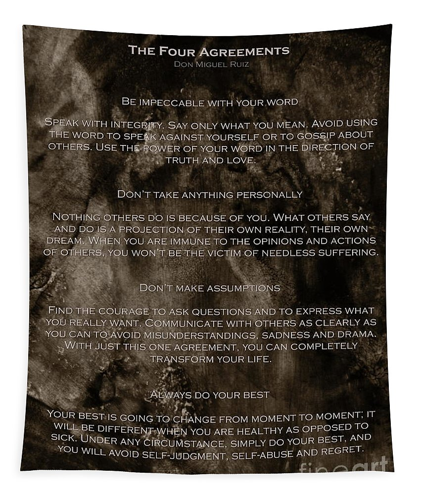 Four Tapestry featuring the photograph The Four Agreements by Andrea Anderegg