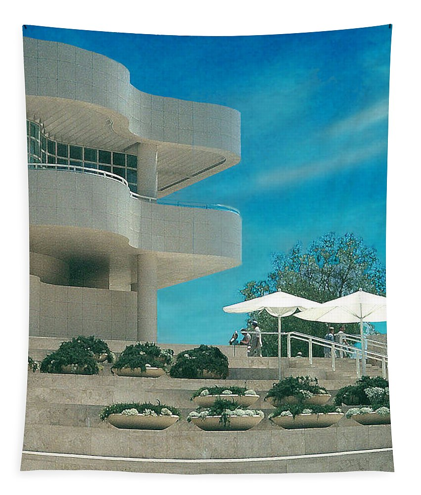Landscape Tapestry featuring the photograph The Getty panel 1 by Steve Karol